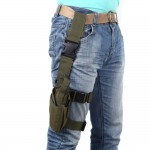 Hunting Leg Holster Outdoor Tactical Puttee Thigh Pouch Wrap-around