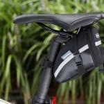 Bike Seat Saddle Roswheel Cycling Seatpost Bag Pouch Black