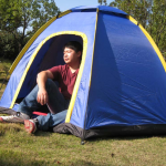 Camping Tent for 3-4 Persons Hexagonal Waterproof UV-resistant